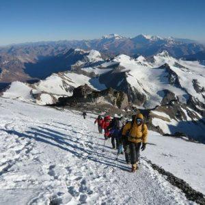 Aconcagua Traverse route polish glacier