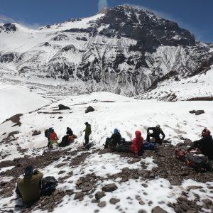 Aconcagua trekking Plaza de Mulas